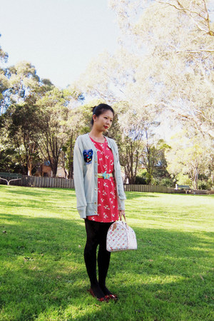 Urban Outfitters dress - Louis Vuitton bag - Cassie Art belt - sheep ring