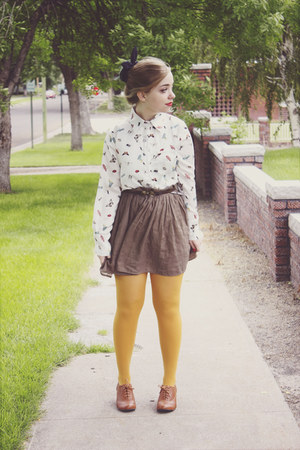 modcloth tights - Choies blouse - modcloth heels