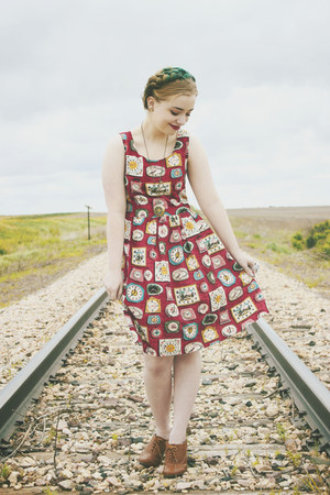 Choies dress - modcloth heels - good after nine ring