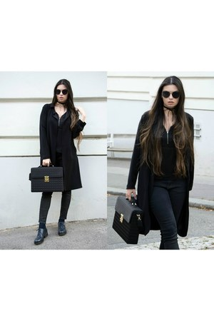 zaful sunglasses - Zara coat - zaful necklace - Bershka top