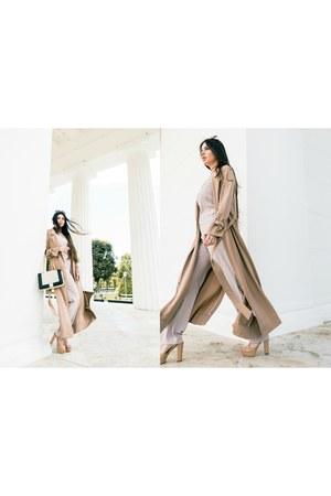 H&M coat - Moschino bag