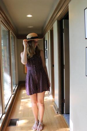 Forever 21 hat - vintage romper - Dolce Vita sandals