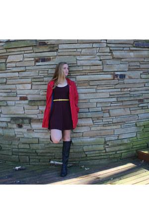 vintage jacket - Forever21 dress