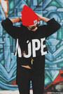 Red-camp-brand-goods-hat-cinder-sage-necklace-black-jac-vanek-hoodie