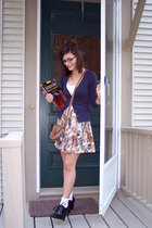 forever 21 top - forever 21 skirt - H&M sweater - Walmart purse - Rampage shoes