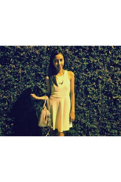 cotton on dress - Charles and Keith bag
