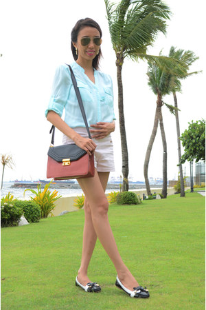 Charles & Keith bag - Aldo shoes - Bershka shorts - Forever New blouse