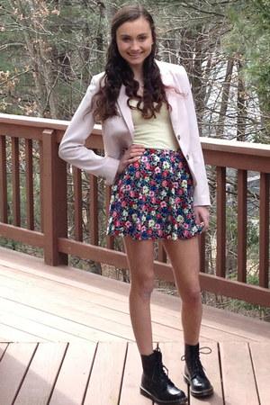 Forever 21 skirt - dr marten boots - H&M blazer