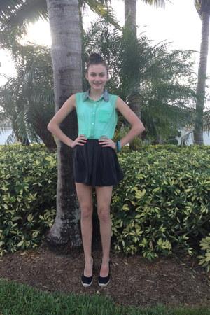 black flowy skirt brandy melville skirt