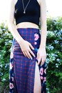 Amethyst-unknown-brand-skirt-black-aliexpress-top-brown-forever-21-sandals