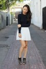 Navy-knit-unknown-sweater-black-beaded-collar-h-m-necklace