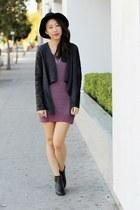 black Report boots - magenta Nordstrom dress