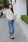 Blue-faded-loose-fit-zara-jeans-ivory-knit-unknown-sweater