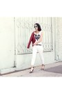 White-capri-j-brand-jeans-red-faux-leather-foreign-exchange-jacket