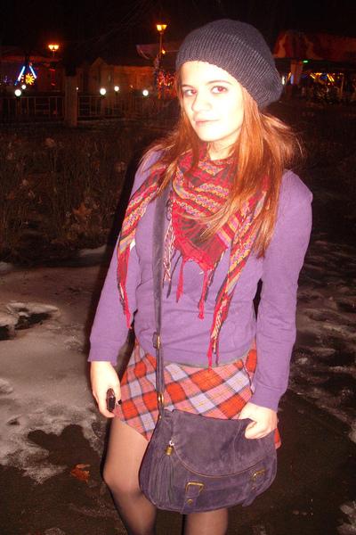Skirt Purple H&m Sweater