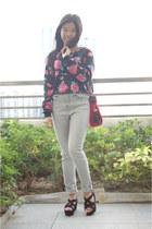 black floral PERSUNMALL jumper
