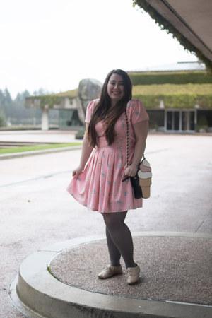 modcloth purse - Aldo shoes - Bonne Chance Collections dress - modcloth tights