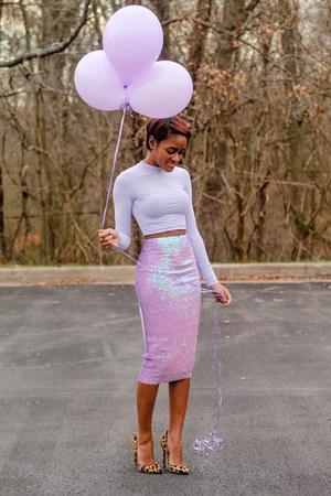 light purple asos top