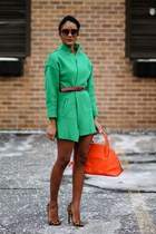 green Sheinside coat