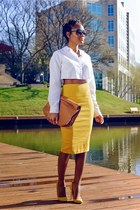 mustard windsor skirt