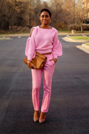 bubble gum Zara pants