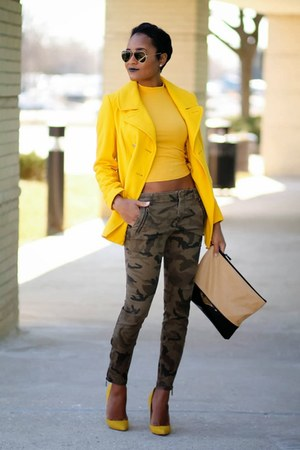 mustard Old Navy coat