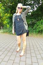 olive green safari jacket Charlotte Russe jacket - black black zeroUV sunglasses
