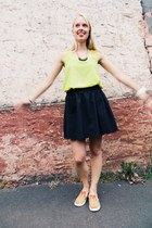 yellow bow back Style Girl Boutique top - ruby red slip ons bucketfeet shoes