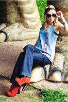 stackable dia Emerson & Oliver bracelet - orange Charlotte Russe boots