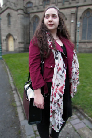 sandwich scarf - Dorothy Perkins dress - Missguided jacket - Accessorize bag