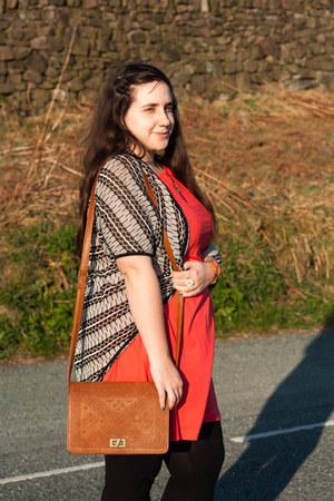 Primark dress - Primark leggings - Primark bag - George At Asda cardigan