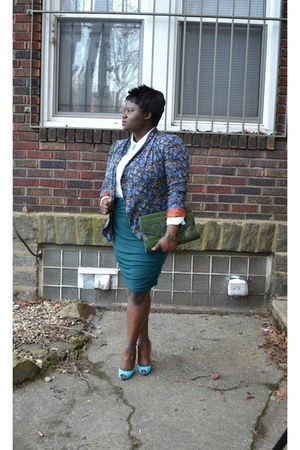 DSW shoes - Forever 21 blazer - Victorias Secret skirt