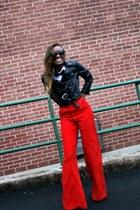 H&M jacket - vintage pants - YSL heels