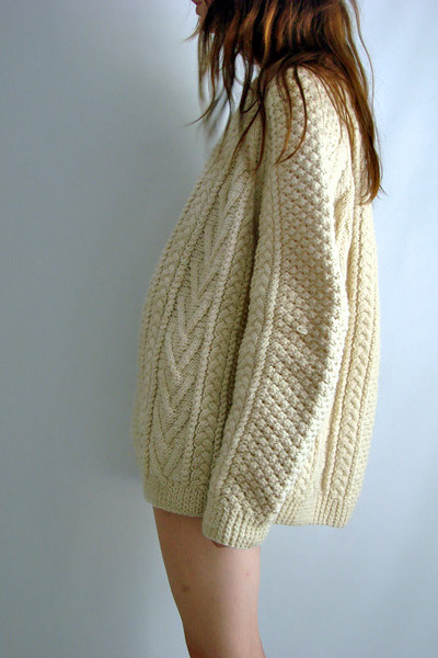beige vintage Kelly Knitwear sweater