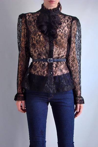 Black Vintage Blouse Breeze Clothing