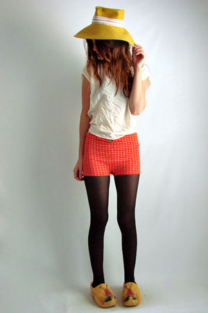 orange 60s70s vintage shorts