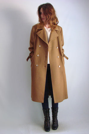 brown 70s80s vintage coat