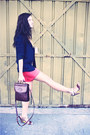 Navy-talula-blazer-dark-brown-vintage-bag-hot-pink-jacob-shorts
