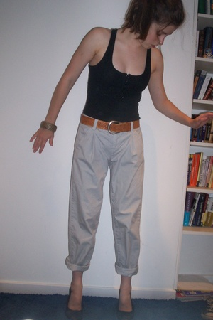 H&M top - vintage belt - Urban Outfitters pants - Target shoes