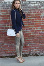 Gold-lace-7-for-all-mankind-jeans-navy-zara-blazer-white-chanel-bag