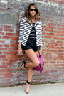 Striped-aqua-blazer-proenza-schouler-bag-black-leather-zara-shorts