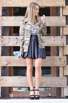 leather AX Paris skirt