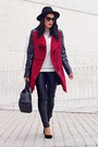 Ruby-red-banggood-coat-black-banggood-bag-dark-brown-zerouv-sunglasses