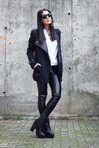 BangGood coat - zeroUV sunglasses - romwe top - JollyChic pants