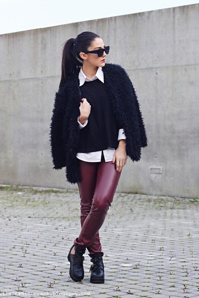Wholesale7 coat - Chicwish boots - zeroUV sunglasses - Chicwish panties