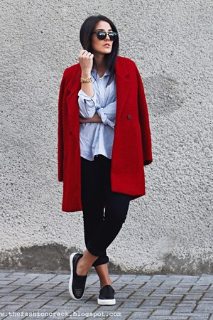 brick red www6kscom coat - black wwwdunelondoncom flats