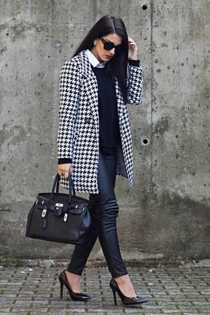 Sheinside coat - BangGood bag - PERSUNMALL pumps - chicnova earrings