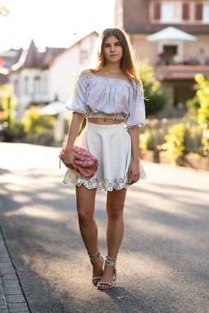 white Isabel Marant sandals - bubble gum Burberry via Monnier Freres bag