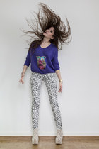 puce owl sweater - more labels on pants