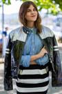 Moschino-jacket-blue-denim-shirt-striped-christian-lacroix-skirt